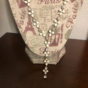white J crew necklace